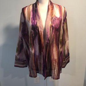Chico's open front kimono jacket